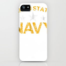 United States Navy Faded Grunge T-Shirt iPhone Case