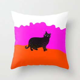 Cat Life 1 Throw Pillow
