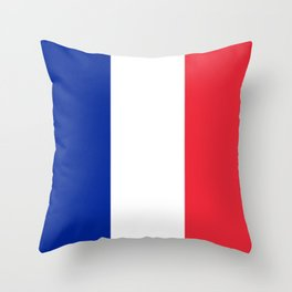 Flag of France, Authentic color & scale Throw Pillow
