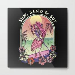 SUP Vintage Retro 80ies 90ies Gift Metal Print