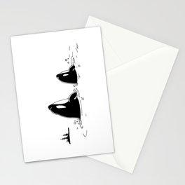 5x7 Spyhopper Orca Print Art Stationery Cards