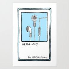 HEADPHONES Card Art Print