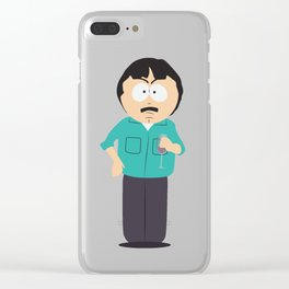 Randy Marsh is having six glass of wine Clear iPhone Case