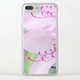 Purple rhododendron Clear iPhone Case