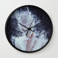 nightmare Wall Clocks featuring Nightmare by Kryseis Retouche