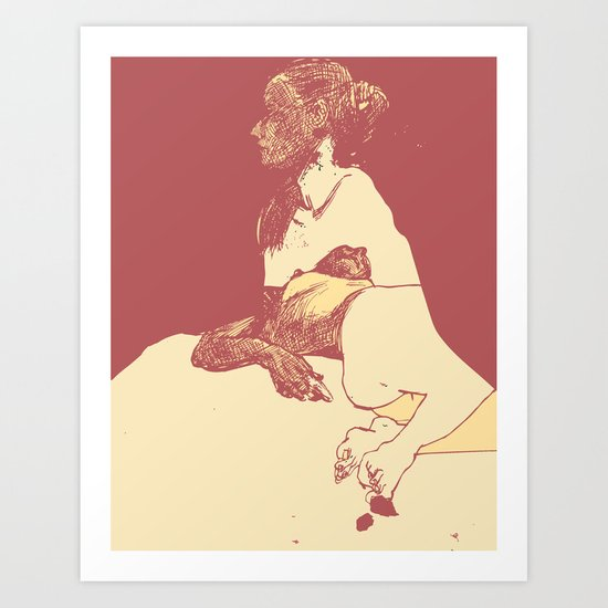 Gaze - 2 Art Print