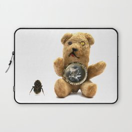 Tiny Mentalembellisher Vintage Teddy Bear with His Pet Bee & Some Fiddlebittery Laptop Sleeve