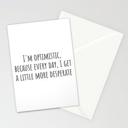 A Little More Desperate Stationery Cards