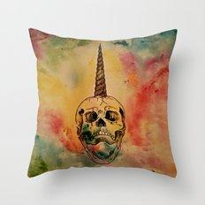Skullicorn Throw Pillow