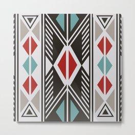 American Native Pattern No. 161 Metal Print