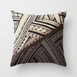 Tribal Sharktooth Hawaiian Tapa Throw Pillow