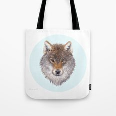 Grey wolf portrait Tote Bag