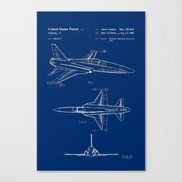 Jet Patent Canvas Print