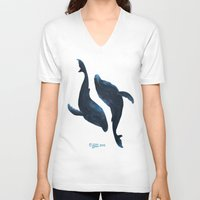 giants V-neck T-shirts featuring Gentle Giants by normalitea