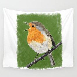 Robin 02 Wall Tapestry