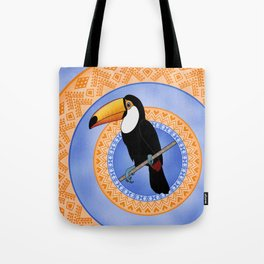 Toco Toucan on Decorative Rings Tote Bag