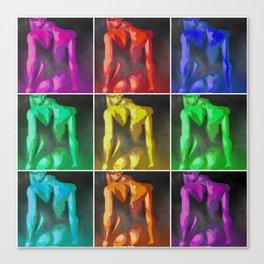 Nine Nudes Pop Art Collage Canvas Print