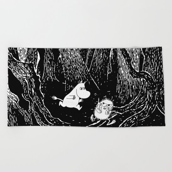 Moomins run for Stinky Beach Towel