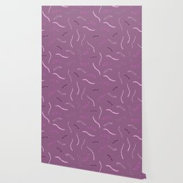 Abstract Pink and Purple People Eaters Pattern, Just Kidding Wallpaper