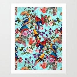 Floral and Birds XI Art Print