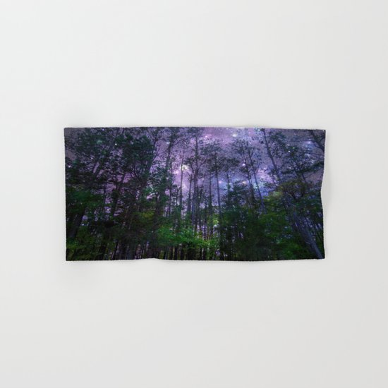 Mystic Forest : Purple Space  Hand & Bath Towel