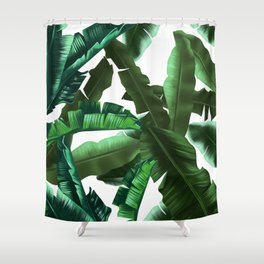 tropical banana leaves pattern 2 Shower Curtain