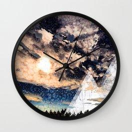 My Imaginations Sunset Wall Clock