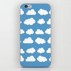White clouds on a blue skies iPhone & iPod Skin