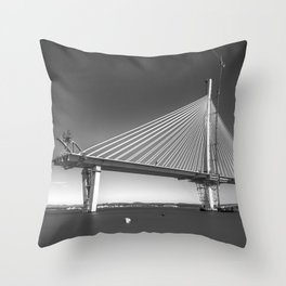 Queensferry Crossing Under Construction Throw Pillow