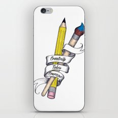 Creativity Takes Courage iPhone & iPod Skin