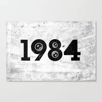 1984 Canvas Prints featuring 1984 by ayarti