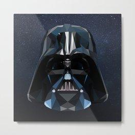 Low Poly Darth Vader Metal Print
