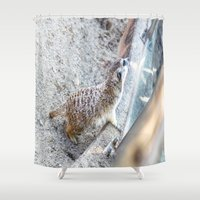 hakuna Shower Curtains featuring Hakuna Matata! by Jennifer Stinson