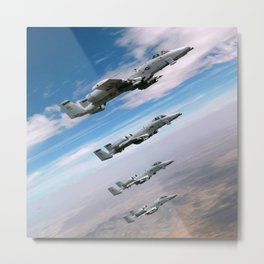 BEAUTIFUL AIRPLANE FORMATION Metal Print