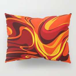 Abstract Lava Magma Pillow Sham