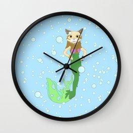 Mer-Cat Wall Clock