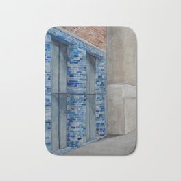Blue Tiles Bath Mat