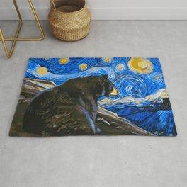 Bear Van Gogh (Painting Retouch) Rug