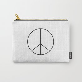 Minimalist Peace Sign Carry-All Pouch