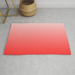 White to Pink Ombre Flames Rug