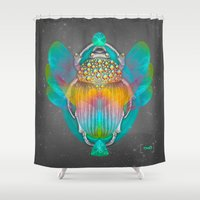 tomb raider Shower Curtains featuring The Darkest Night Will End and the Sun Will Rise by soaring anchor designs