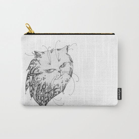 Abstract black and white cat Carry-All Pouch