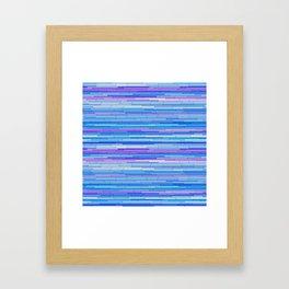 Blue Purple Random Lines Framed Art Print