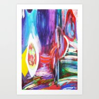 Reflections and Distortion One Art Print