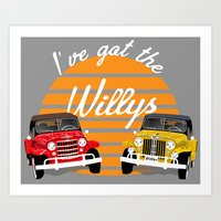 Willy's Jeepsters Art Print