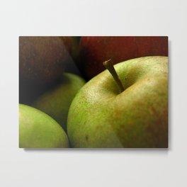 Green Apple Closeup Metal Print