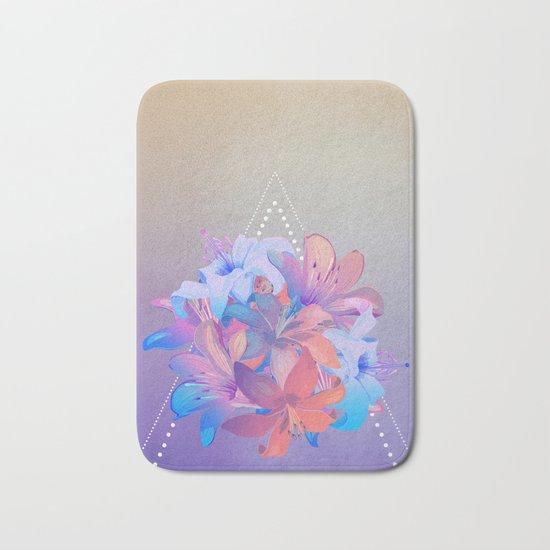 lily bouquet Bath Mat