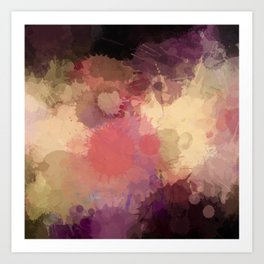 Modern Contemporary Ultra Violet Glow Abstract Art Print