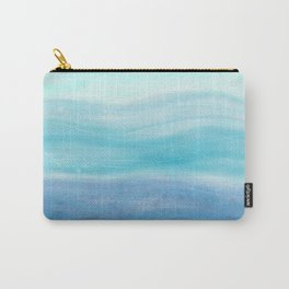 Sea Waves, Abstract Watercolor Painting Carry-All Pouch