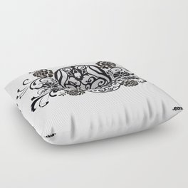 SKULL FLOWER 02 Floor Pillow